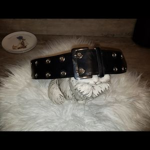 Avignon Black Leather Belt. 359